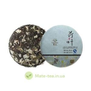 Пуэр с цветами Лотоса - 100 грамм