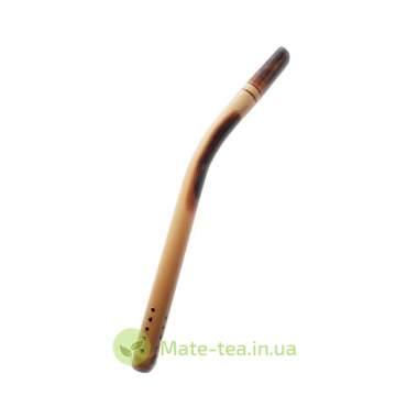 Бомбилья бамбуковая загнутая - 15 см